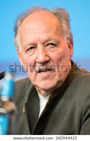 BERLIN, GERMANY - FEBRUARY 06:Director Werner Herzog, press conference during the 65th Film Festival at Hyatt Hotel February 6, 2015 in Berlin, Germany.