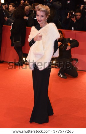 Berlin, Germany - February 15, 2016  - Emma Thompson attends the 'Alone in Berlin' (Jeder stirbt fuer sich) premiere during the 66th Berlinale International Film Festival - stock photo