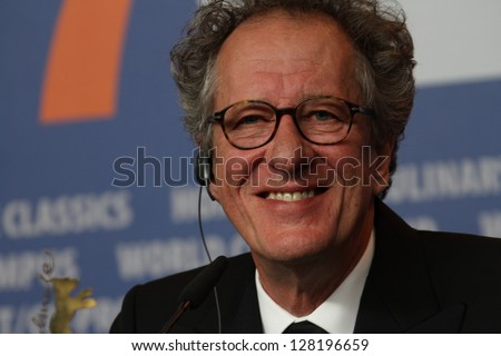 BERLIN, GERMANY - FEBRUARY 12: Geoffrey Rush attends the 'The Best Offer' Photocall during the 63rd Berlinalel Film Festival at the Grand Hyatt Hotel on February 12, 2013 in Berlin, Germany