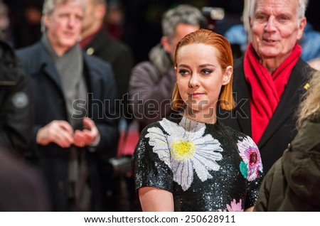 BERLIN, GERMANY - FEBRUARY 05: Jena Malone, the Nobody Wants the Night Premiere - 65th Berlinale International Film Festival on February 05, 2015 in Berlin, Germany. - stock photo