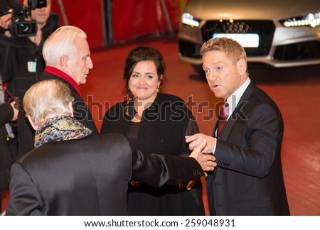 BERLIN, GERMANY - FEBRUARY 13: Kenneth Branagh with wife Lindsay Branagh. 'Cinderella' premiere. 65th Berlinale Film Festival. Berlinale Palace on February 13, 2015 in Berlin, Germany. - stock photo