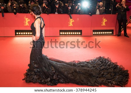 Berlin, Germany - February 16, 2016  - Lauriane Sallin attends the 'Chi-Raq' premiere during the 66th Berlinale International Film Festival - stock photo