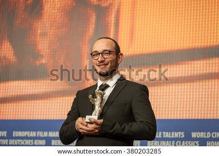 Berlin, Germany - February 20, 2016  - Majd Mastoura, winner of the Silver Bear for Best Actor for 'Inhebbek Hedi' attends the award winners press conference of the 66th Berlinale