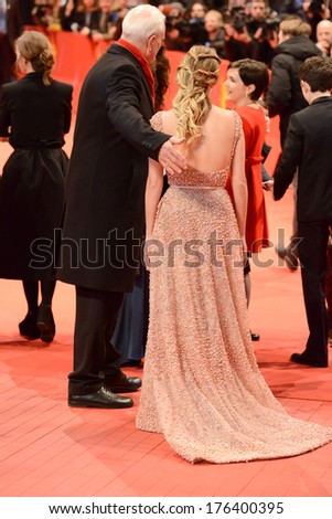 "BERLIN - GERMANY - FEBRUARY 12: Melanie Laurent at the 64th Annual Berlinale International Film Festival ""Aloft"" premiere at Berlinale Palast on February 12, 2014 in Berlin, Germany.   - stock photo"
