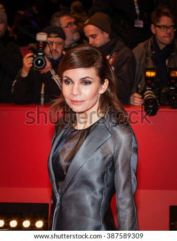 Berlin, Germany - February 13, 2016 - Nadine Warmuth attends the 'Things to Come' (L'avenir) premiere during the 66th Berlinale International Film Festival