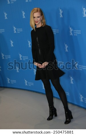 BERLIN, GERMANY - FEBRUARY 06: Nicole Kidman attends the 'Queen of the Desert' photocal during the 65th Berlinale Film Festival at Grand Hyatt Hotel on February 6, 2015 in Berlin, Germany. - stock photo