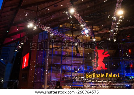 BERLIN, GERMANY - FEBRUARY 05: Opening Ceremony of the 65th Berlinale International Film Festival at Berlinale Palace on February 5, 2015 in Berlin, Germany - stock photo