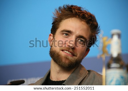 BERLIN, GERMANY - FEBRUARY 09: Robert Pattinson attends the 'Life' press conference during the 65th Berlinale Film Festival at Grand Hyatt Hotel on February 9, 2015 in Berlin, Germany. - stock photo