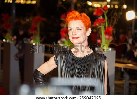 BERLIN, GERMANY - FEBRUARY 13: Sandy Powell attends the 'Cinderella' premiere during the 65th Berlinale International Film Festival at Berlinale Palace on February 13, 2015 in Berlin, Germany. - stock photo