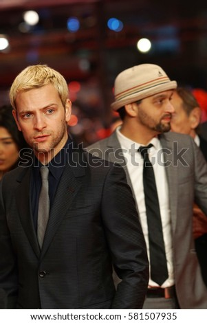 Berlin, Germany - February 13, 2017: Shooting Star Alessandro Borghi attends the 'The Party' premiere during the 67th Berlinale International Film Festival Berlin at Berlinale Palace