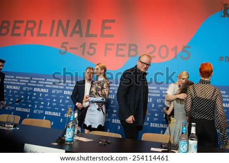 BERLIN, GERMANY - FEBRUARY 13: Stellan Skarsgard, 'Cinderella' press conference, 65th Berlinale International Film Festival at Grand Hyatt Hotel on February 13, 2015 in Berlin, Germany - stock photo