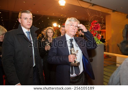 BERLIN, GERMANY - FEBRUARY 14: T. Courtenay, Silver Bear for Best Actor,  film '45 years'. Closing Ceremony. 65th Berlin Film Festival at Berlinale Palace on February 14, 2015 in Berlin, Germany  - stock photo