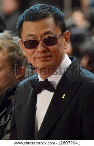 "BERLIN - GERMANY - FEBRUARY 12: Wong Kar Wai at the 63rd Annual Berlinale International Film Festival ""Side Effects"" premiere at Berlinale Palast on February 12, 2013 in Berlin, Germany."