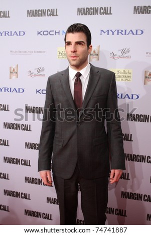 BERLIN, GERMANY - FEBRUARY 11: Zachary Quinto arrives for the 'Margin Call' - party at the 61st Berlin International Film Festival at San Nicci on February 11, 2011 in Berlin, Germany.