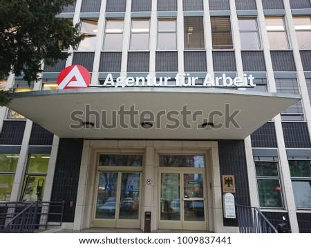 berlin germany january 23 2018 bundesagentur stock photo 1009837441