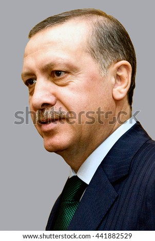 Berlin, Germany - January 15, 2012: Recep Tayyip Erdogan - *26.02.1954:Turkish politician and President of the Republic of Turkey.