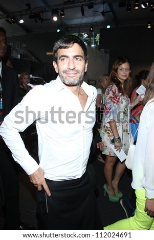 BERLIN, GERMANY - JULY 04: Designer Marc Jacobs attends the Designer For Tomorrow Show during the Mercedes-Benz Fashion Week Spring/Summer 2013 on July 4, 2012 in Berlin, Germany.