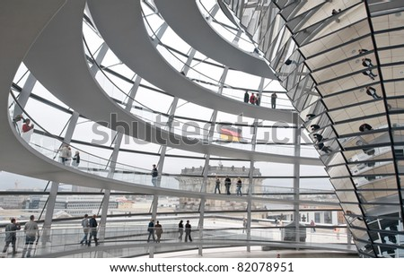 BERLIN, GERMANY - JULY 4:  Reichstag - the Parliament building of the German Empire. Opened in 1894 and housed the Parliament until 1933, when it was severely damaged. July 4th 2011, Berlin, Germany