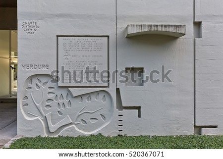 BERLIN, GERMANY - JULY 2014: The Corbusier Haus was designed by Le Corbusier in 1957 following his concept of Unite d'Habitation (Housing Unit)