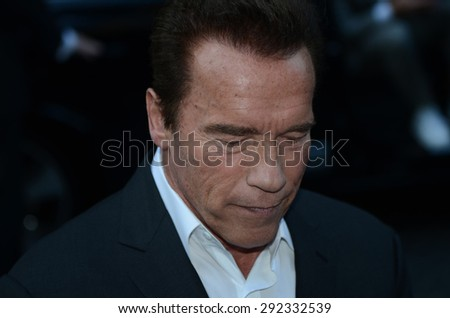 BERLIN - GERMANY - June 21: Arnold Schwarzenegger at the Europe premiere from Terminator Genisys at CineStar,Sony Center on June 21, 2015 in Berlin, Germany.
