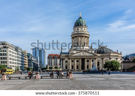 BERLIN, GERMANY - JUNE 16, 2014: Berlin cityscape. Berlin - Germany capital and cultural center.