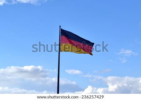 BERLIN, GERMANY - JUNE 22, 2013 : Germany flag on june 22, 2013 in Berlin - stock photo