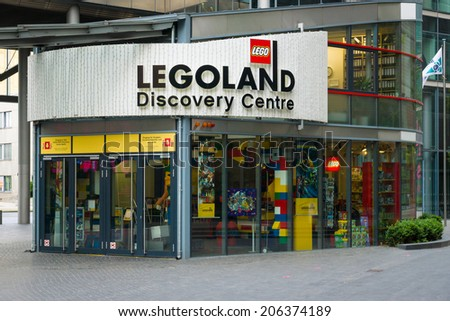 BERLIN, GERMANY - JUNE 06, 2014: Legoland Discovery ?enter in the Sony Center on Potsdamer Platz
