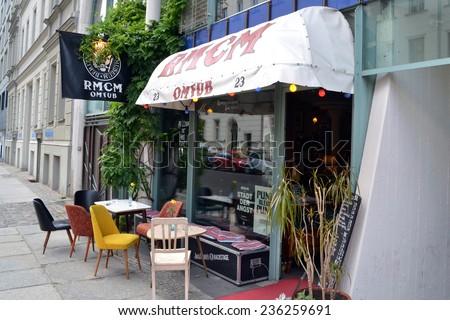 BERLIN, GERMANY - JUNE 22, 2013 : Ramones museum on june 22, 2013 in Berlin - stock photo