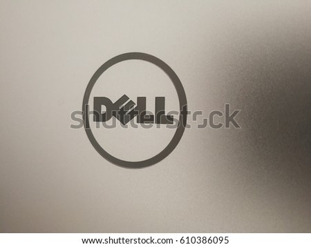 Berlin, Germany - March 22, 2017: Dell logo. American privately owned multinational computer technology company that developed, sold, repaired and supported computers and related products and services