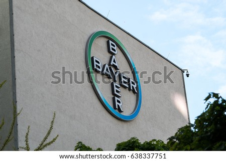 Berlin Germany May 7 2017 Bayer Stock Photo Royalty Free 638337751