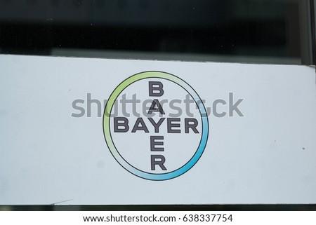 Berlin Germany May 7 2017 Bayer Stock Photo Royalty Free 638337754