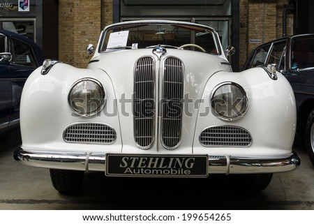 BERLIN, GERMANY - MAY 17, 2014: Full-size luxury car BMW 502 convertible. 27th Oldtimer Day Berlin - Brandenburg  - stock photo