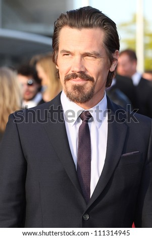 BERLIN, GERMANY - MAY 14: Josh Brolin attends the Men In Black 3 Premiere at the O2 World on May 14, 2012 in Berlin, Germany. - stock photo