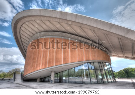 BERLIN, GERMANY - MAY 7 2014: The Haus der Kulturen der Welt (House of the Cultures of the World) in West Berlin, taken on May 7, 2014. - stock photo