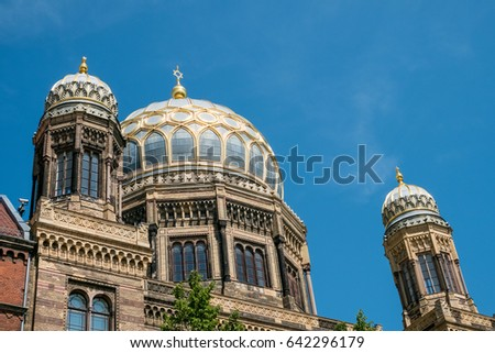 "Berlin, Germany - may 11, 2017: The Neue Synagoge (""New Synagogue"") in Berlin, Germany"