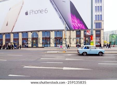 BERLIN, GERMANY - NOV 12, 2014: Famous Potsdamer platz - financial district of Berlin, Germany - stock photo