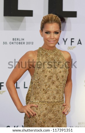 "BERLIN, GERMANY - OCTOBER 30: Dutch model Sylvie van der Vaart attends the Germany premiere of James Bond 007 movie ""Skyfall"" at the Theater am Potsdamer Platz on October 30, 2012 in Berlin, Germany"