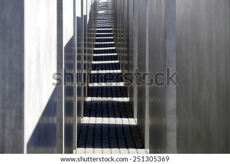 Berlin, Germany - September 24, 2007: Memorial to the Murdered Jews of Europe near Potsdam Place in Berlin.