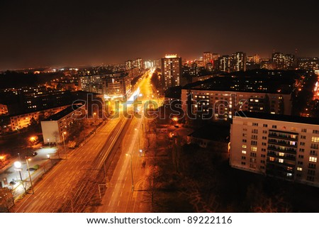 Berlin in Germany at night
