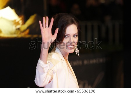 BERLIN - JANUARY 19: Angelina Jolie attends the German premiere of The Curious Case of Benjamin Button at the Sony Center CineStar on January 19 2009, Berlin - stock photo