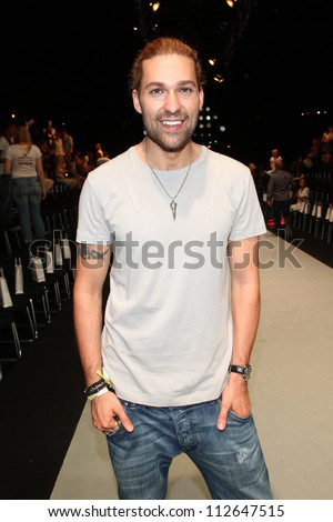 BERLIN - JULY 07: David Garrett attends the Holy Ghost show at Mercedes-Benz Fashion Week Spring/Summer 2013 on July 7, 2012 in Berlin, Germany.