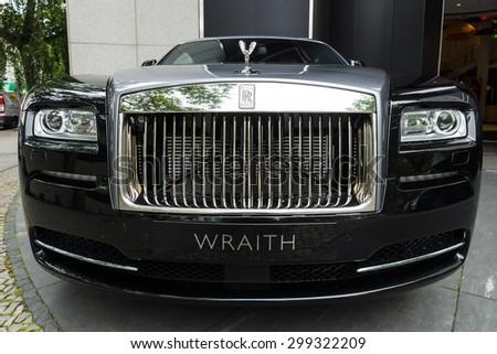 BERLIN - JUNE 14, 2015: Full-size luxury car Rolls-Royce Wraith (since 2013). The Classic Days on Kurfuerstendamm. - stock photo