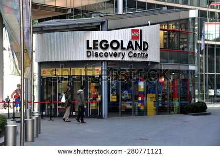 BERLIN   March5: Legoland at the Sony Center am Potsdamer Platz on March 5, 2015 in Berlin, Germany.