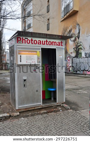 BERLIN MARCH 5: Photoautomat on March 5, 2015. - stock photo