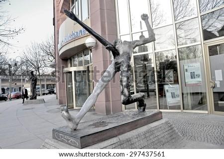 BERLIN MARCH 6: The NAZI sculpture in West Berlin March 6, 2015 in Berlin. - stock photo