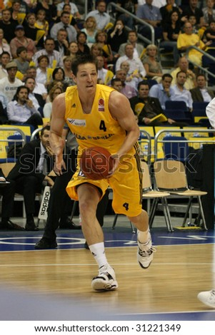 BERLIN - MAY 31: Berlin's Jacobson during 1st basketball playoff half final match - Alba Berlin vs Telekom Baskets Bonn (71:73) at O2World May 31, 2009 in Berlin.