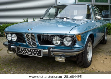 BERLIN - MAY 10, 2015: Full-size luxury car BMW New Six (E3), 1981. The 28th Berlin-Brandenburg Oldtimer Day - stock photo