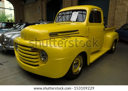 BERLIN - MAY 11: Full-size pickup truck Ford F1 Pickup, 26th Oldtimer-Tage Berlin-Brandenburg, May 11, 2013 Berlin, Germany - stock photo