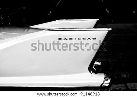 "BERLIN - MAY 28: Rear brake lights car Cadillac Sixty Special, the exhibition ""125 car history - 125 years of history Kurfurstendamm"", May 28, 2011 in Berlin, Germany - stock photo"