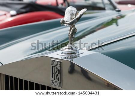 BERLIN - MAY 11: The emblem of Rolls-Royce, Spirit of Ecstasy, 26th Oldtimer-Tage Berlin-Brandenburg, May 11, 2013 Berlin, Germany - stock photo